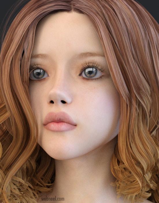 daz3d model girl