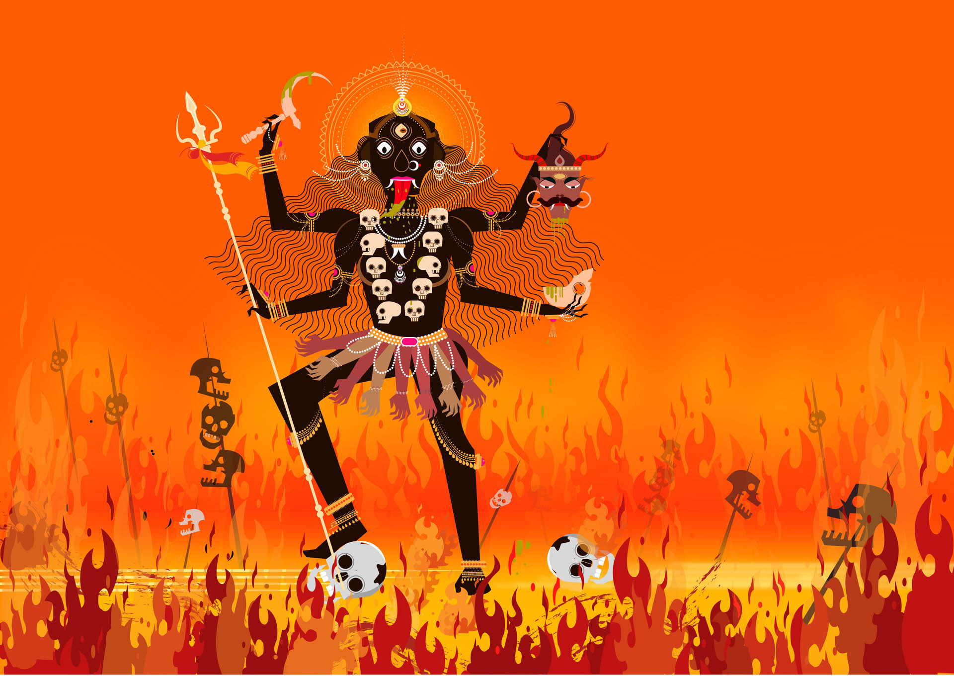 digital art kali by ram bhangad