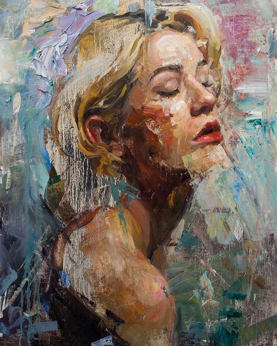 oil painting longing by matt talbert