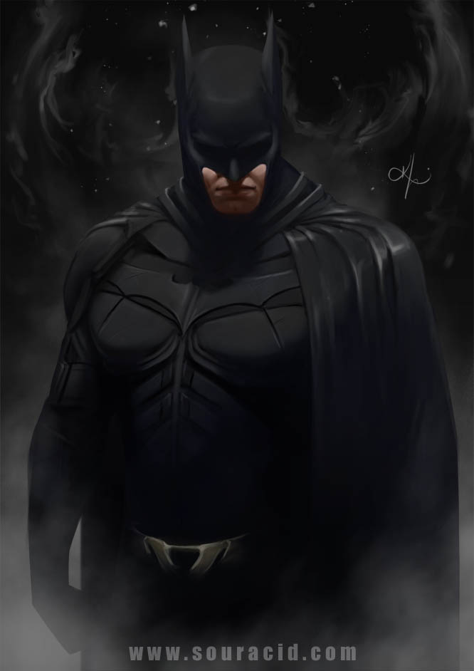 digital painting artworks batman