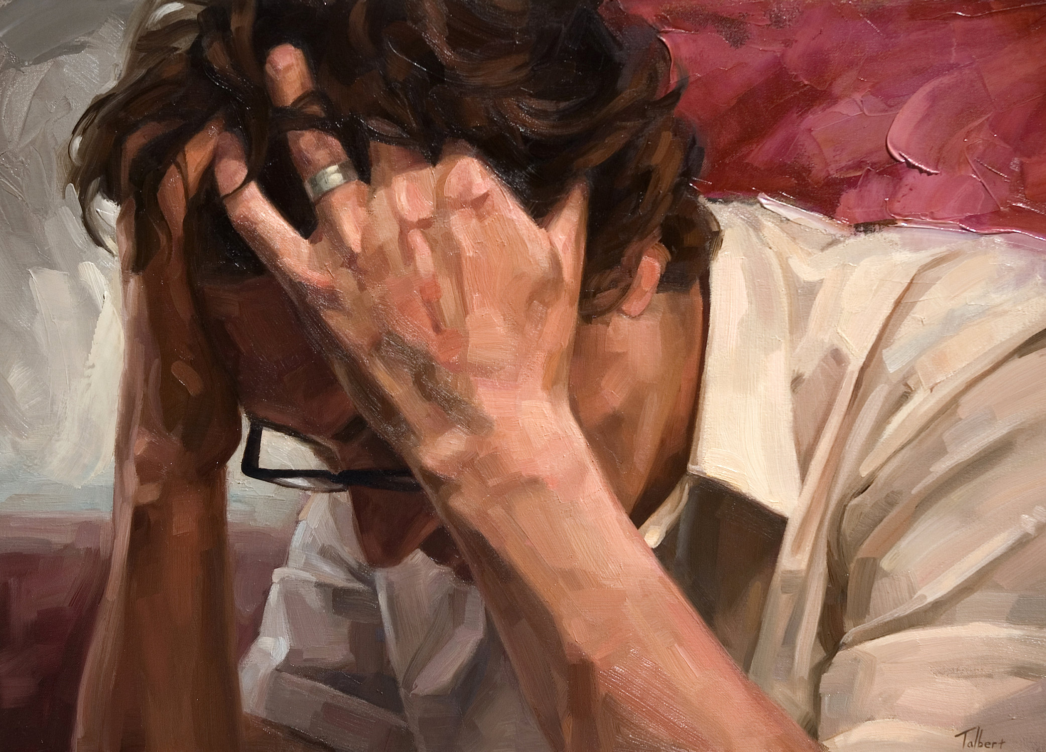 oil painting despair by matt talbert