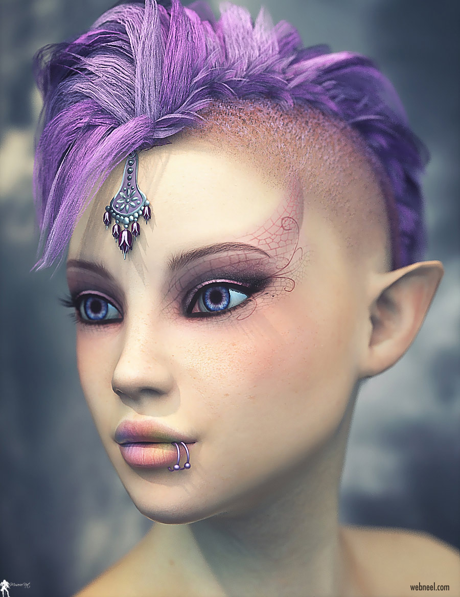 daz3d model fantasy girl by lamuserie