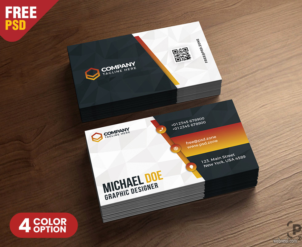 corporate business card design by psdzone