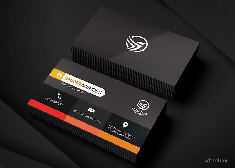 corporate business card design by salmaan ansari