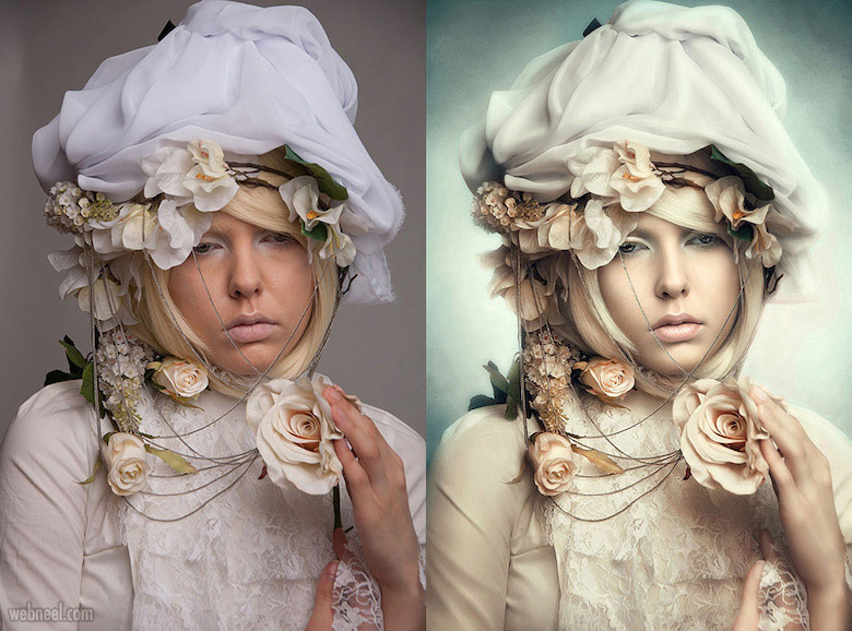 photo retouching after before by crowbloody