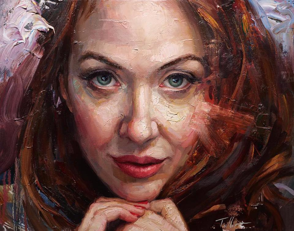 oil painting beauty by matt talbert