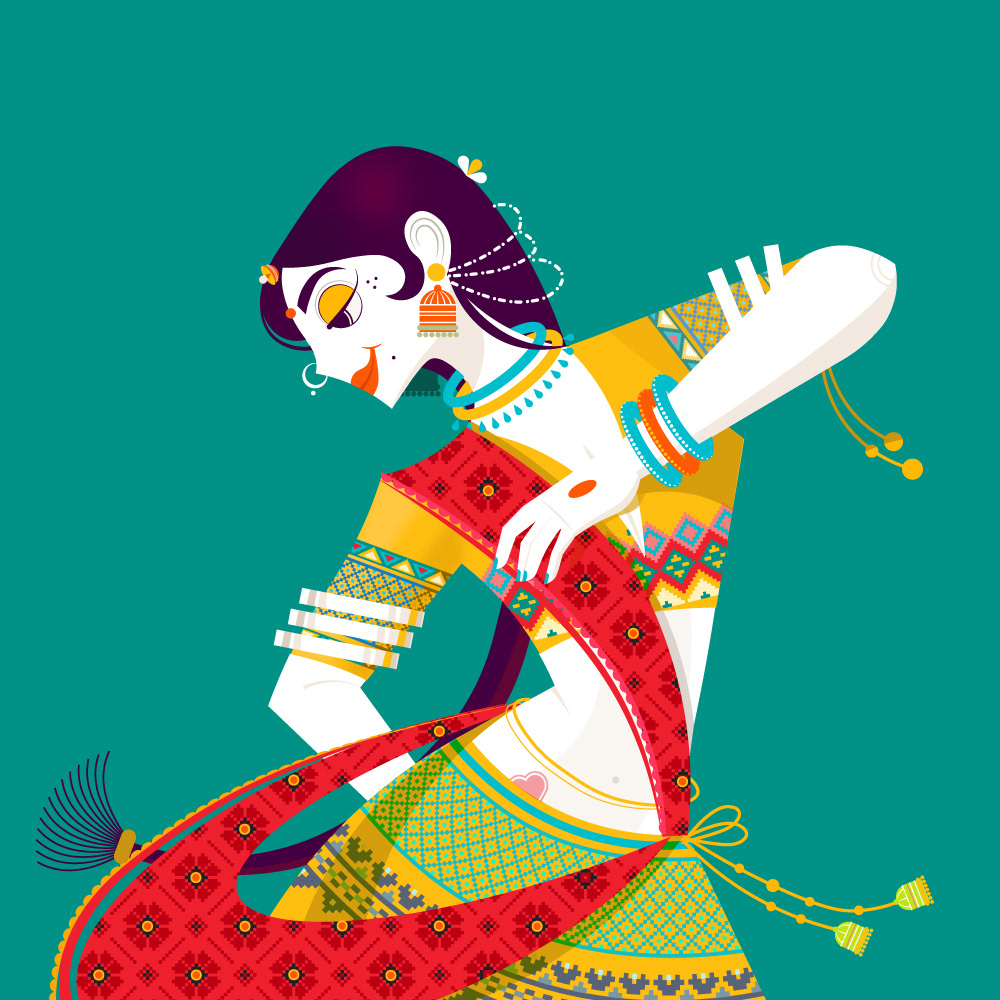 digital art garba by ram bhangad