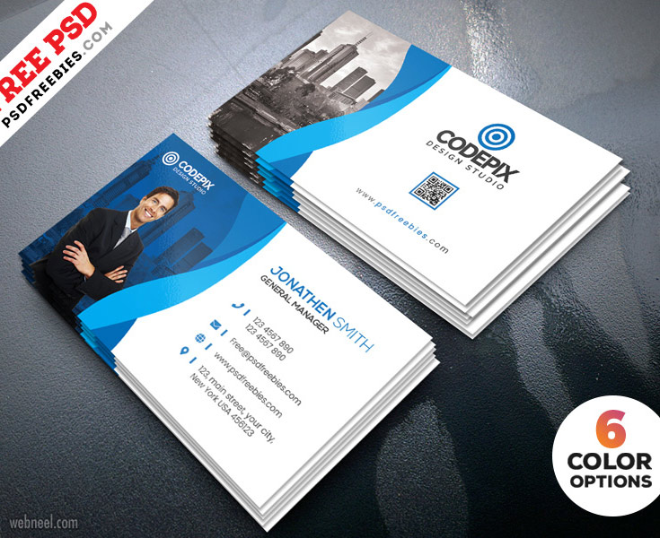 corporate business card design by psd freebies
