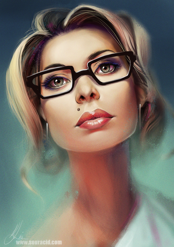 digital painting artworks portrait