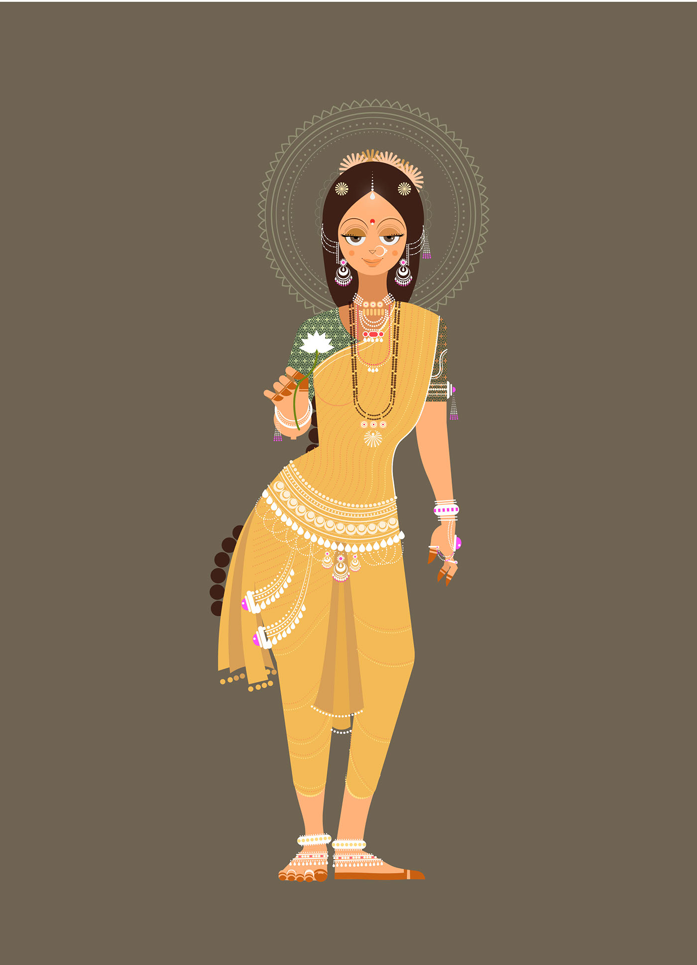 digital illustration lakshmi by ram bhangad
