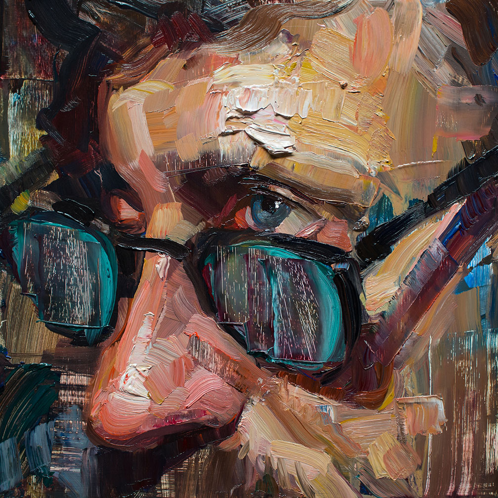oil painting face by matt talbert