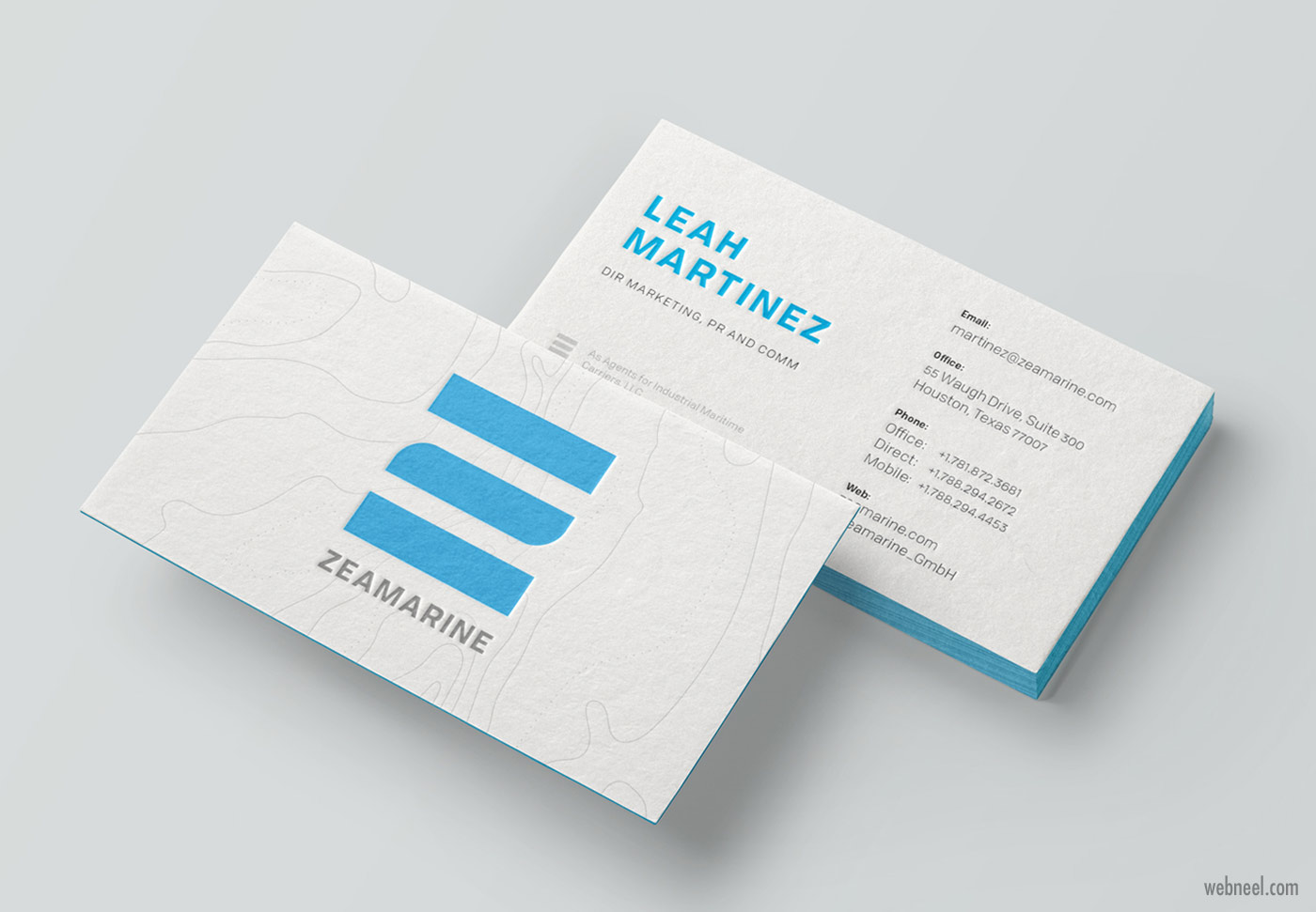 corporate business card design by ivan alonso