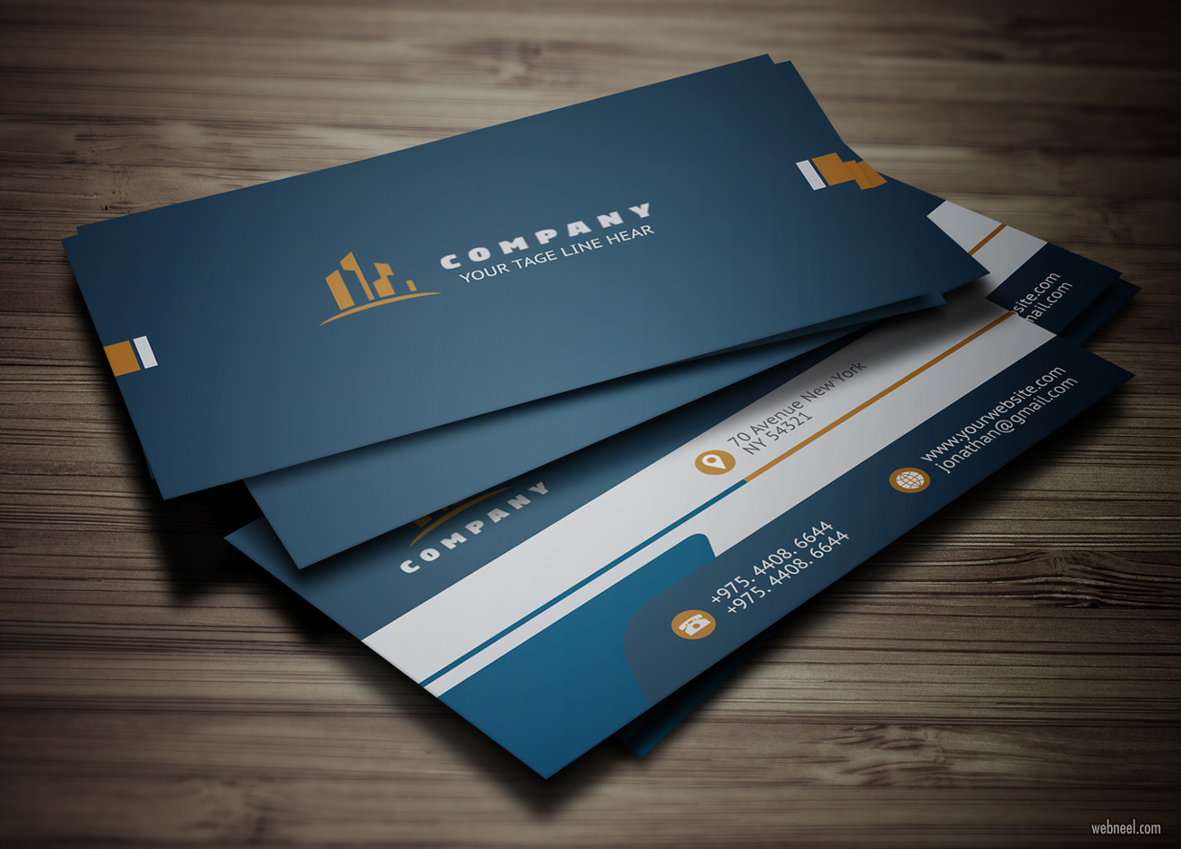 corporate business card design by abul basher