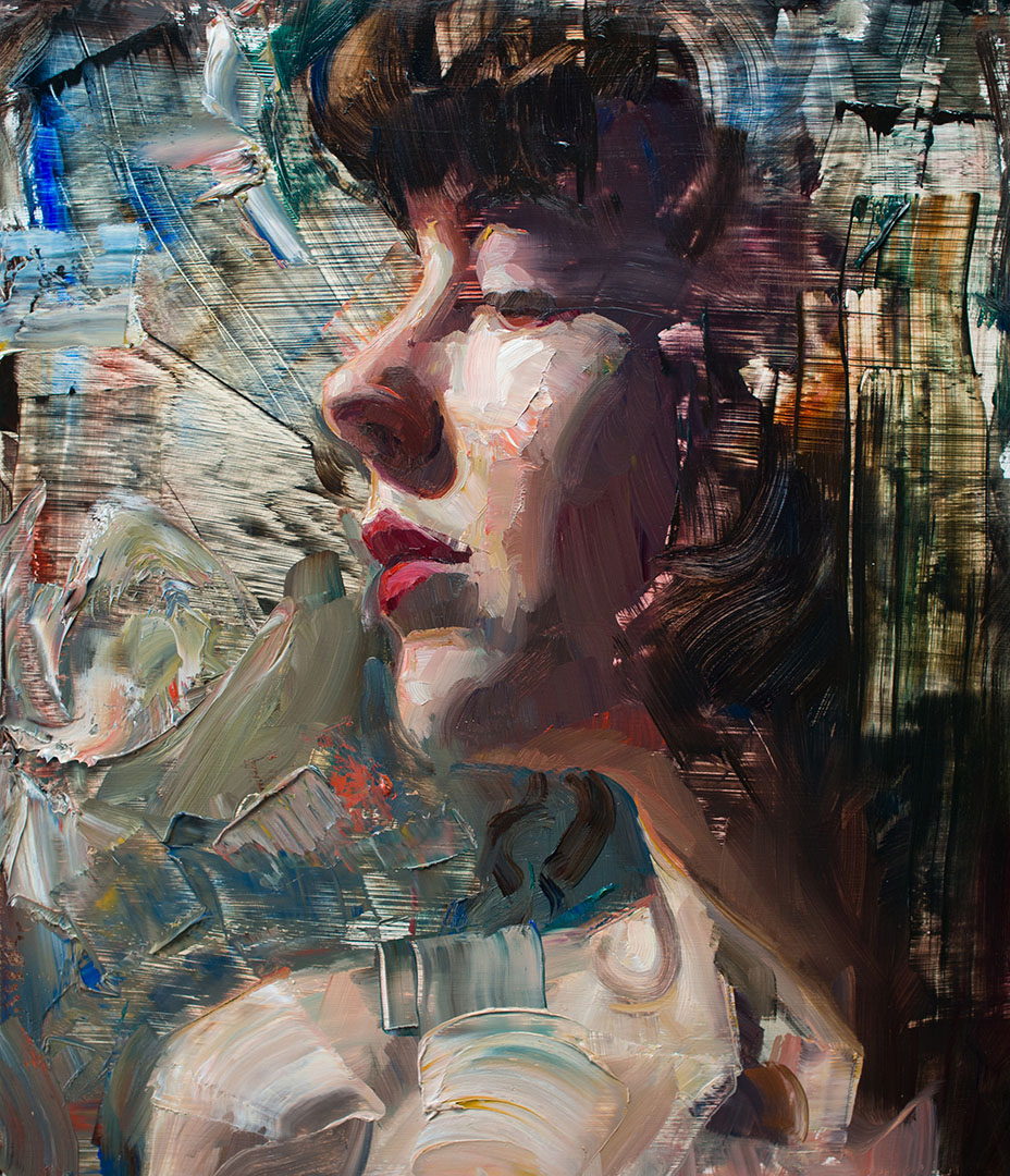oil painting sultry by matt talbert