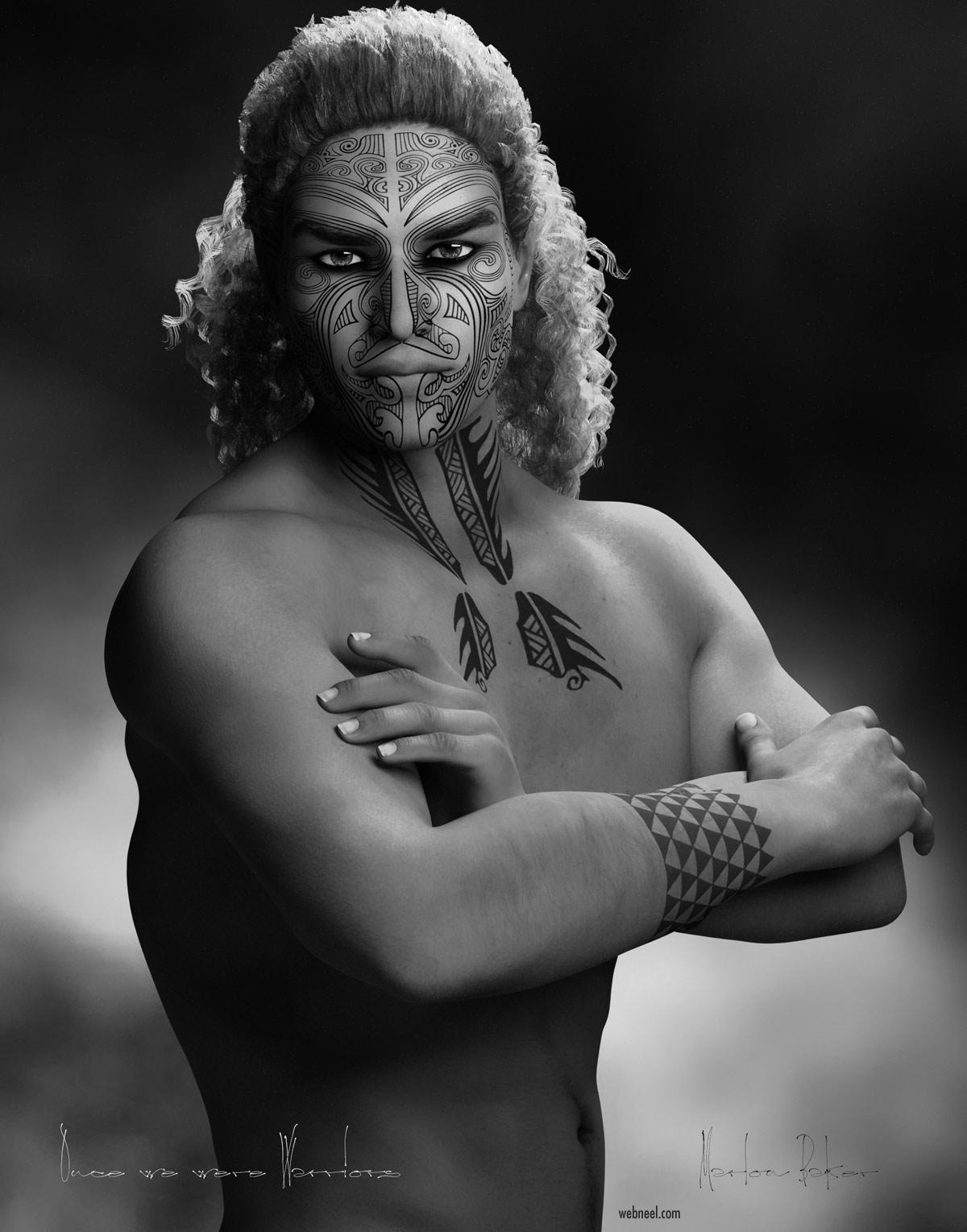 daz3d model tribal gypsy tattoo by marlon baker