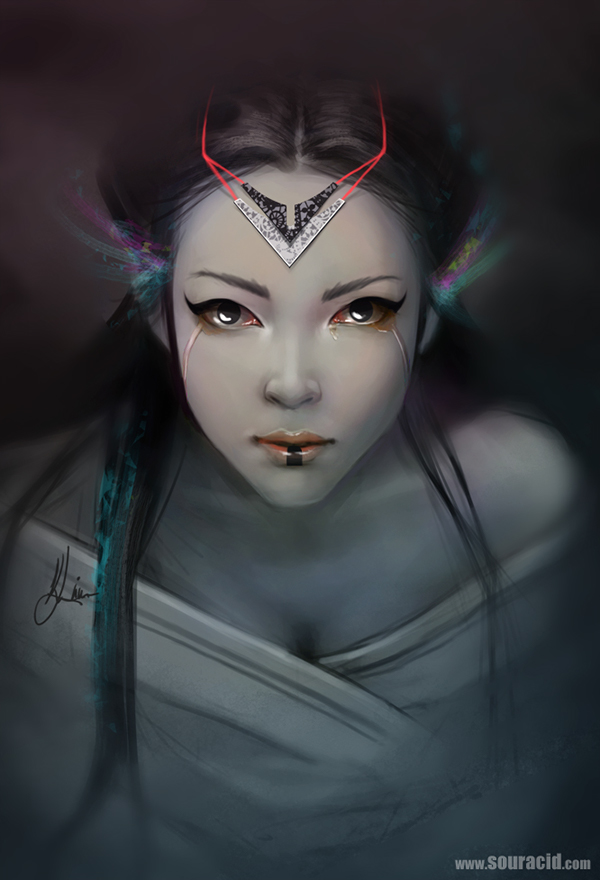 digital painting artworks princess by karl liversidge