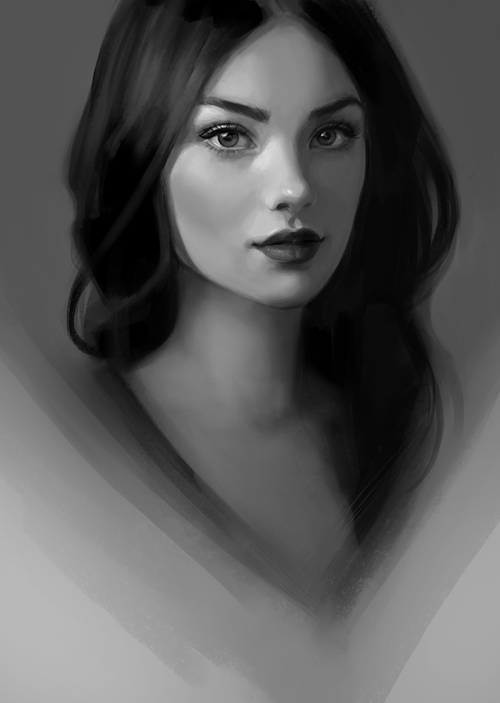 digital painting woman by gabriellebrickey