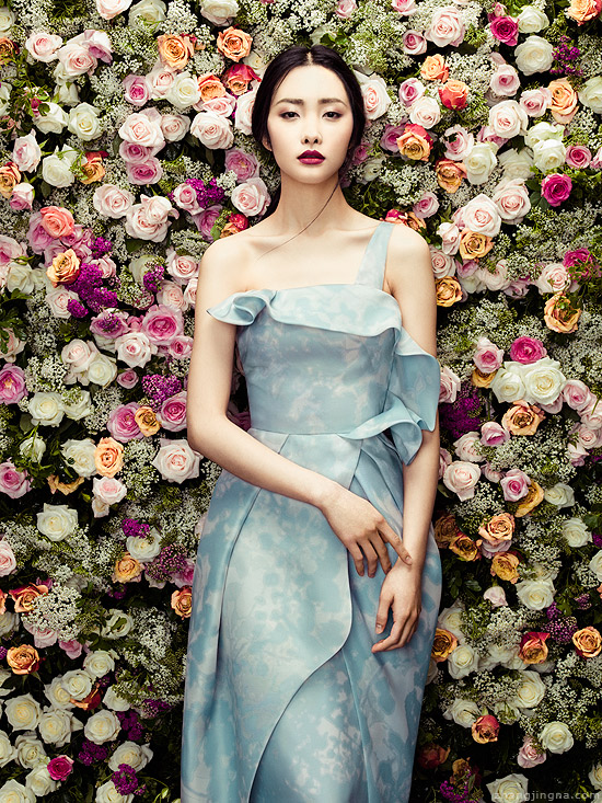 fashion photography flowers by phuong