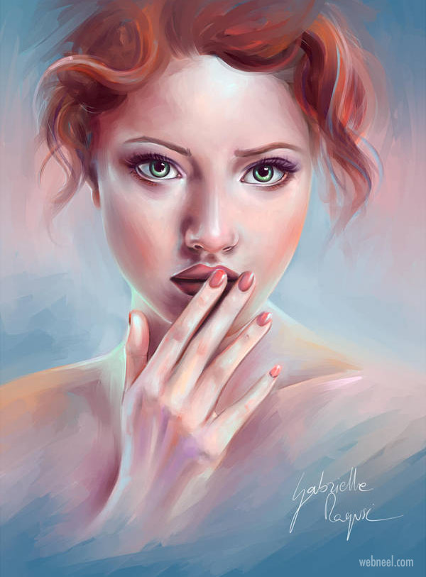 painting woman by gabrielleragusi