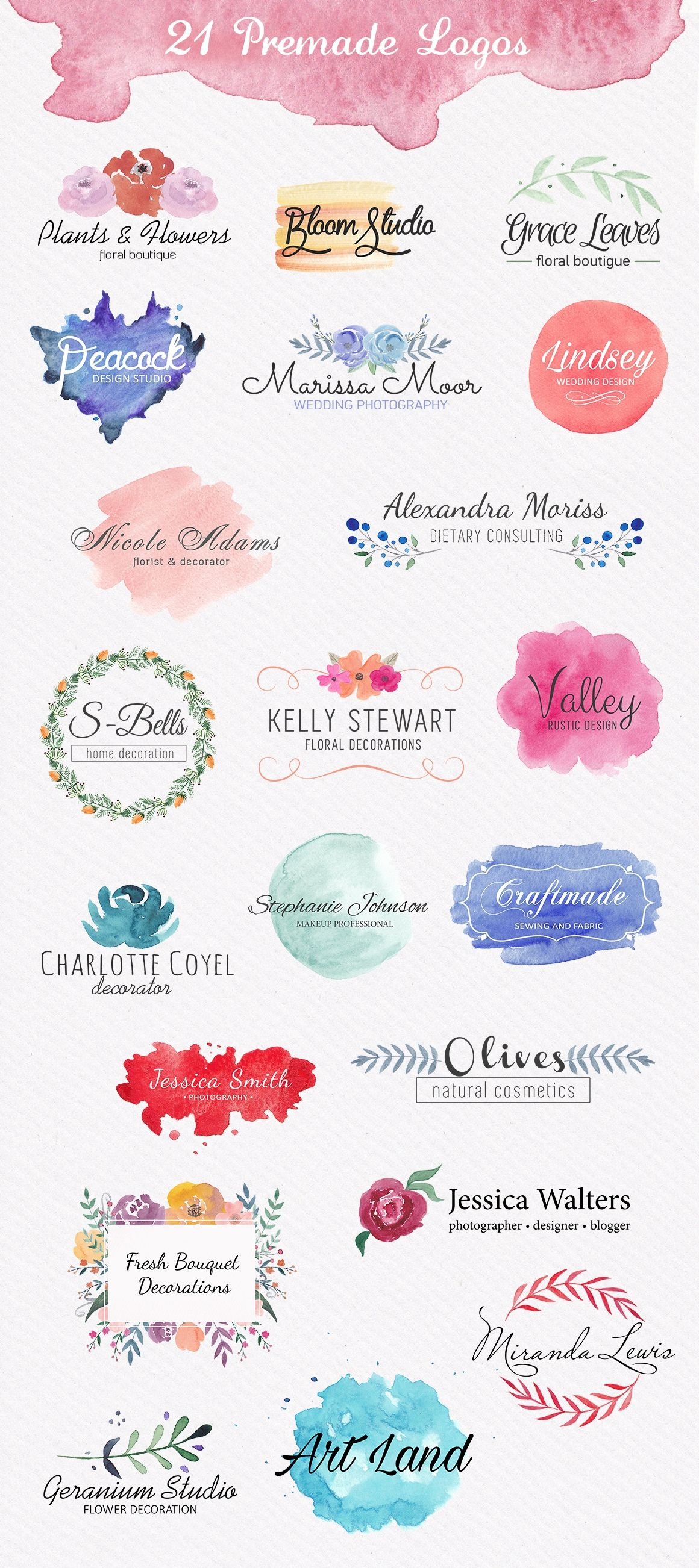 watercolor logo maker ios design app