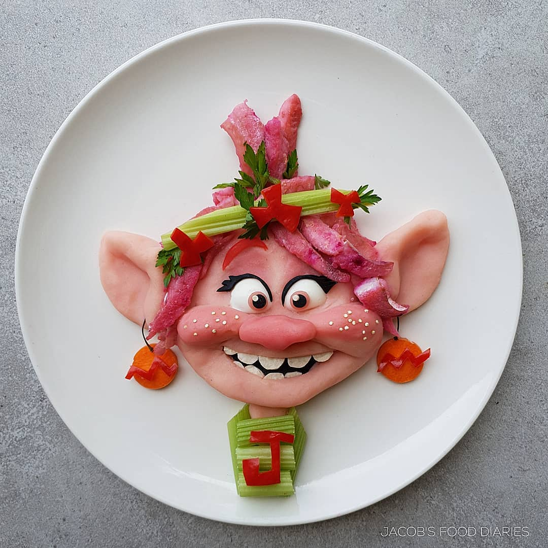 food art poppy