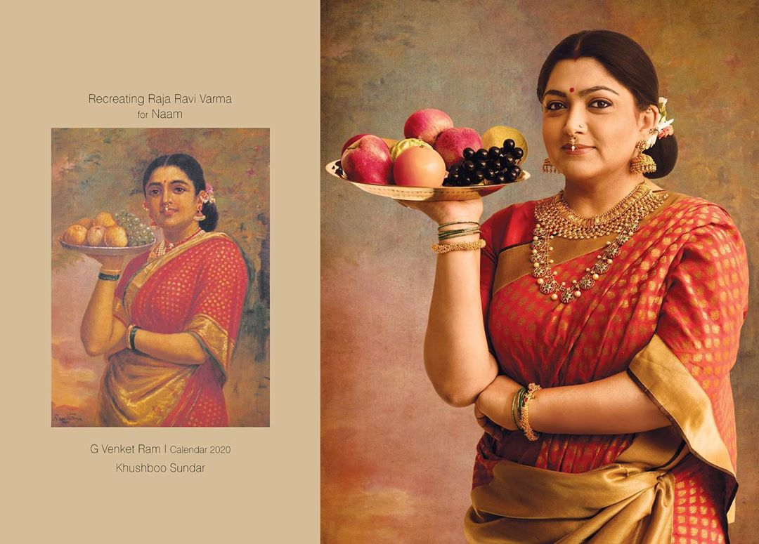 photography raja ravi varma paintings kushboo by venket ram