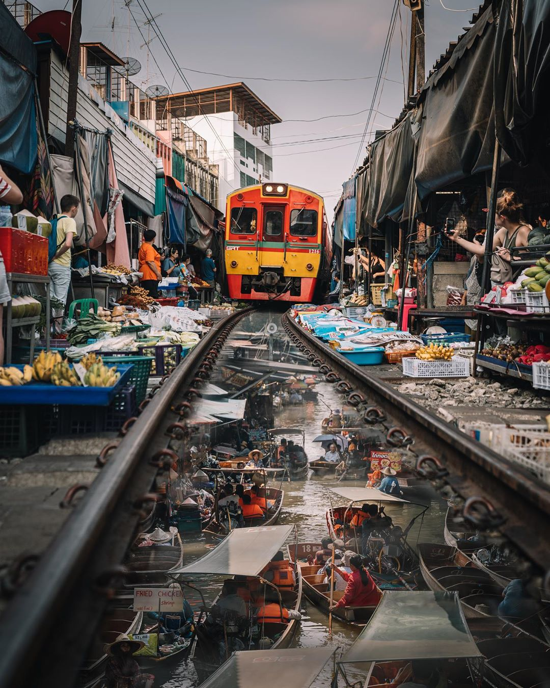 urban photography maeklong railway market