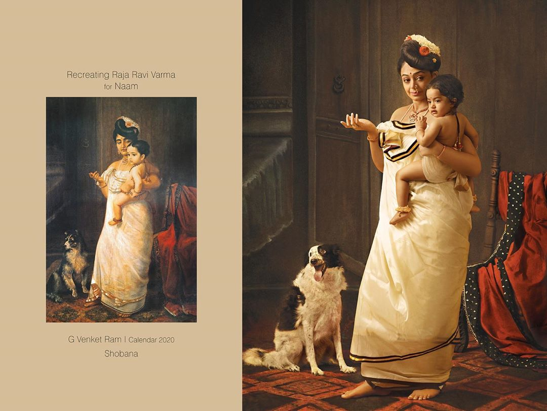 photography raja ravi varma paintings shobana by venket ram