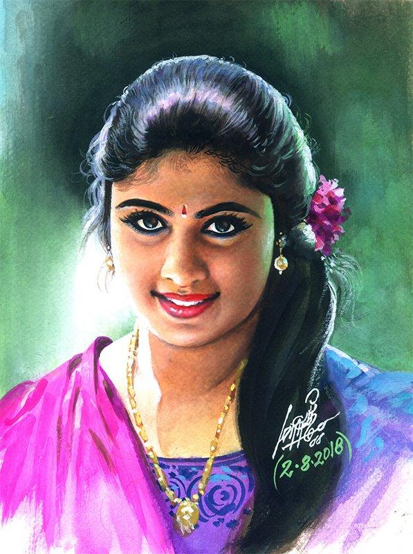 tamilnadu paintings love lorn by oviyar maruthi