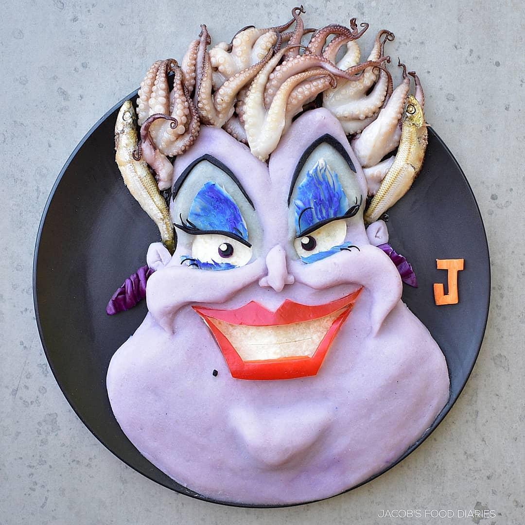food art sea witch by laleh mohmedi