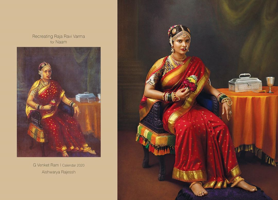 photography raja ravi varma paintings aishwarya rajesh