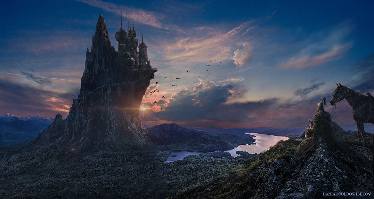 matte painting digital art return king by daniar joldoshbekov