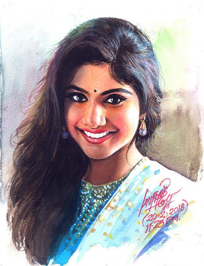 tamilnadu paintings sai pallavi by oviyar maruthi