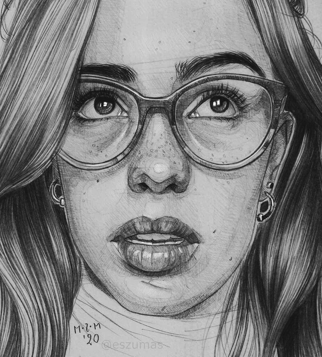 portrait pencil drawing helena beckman