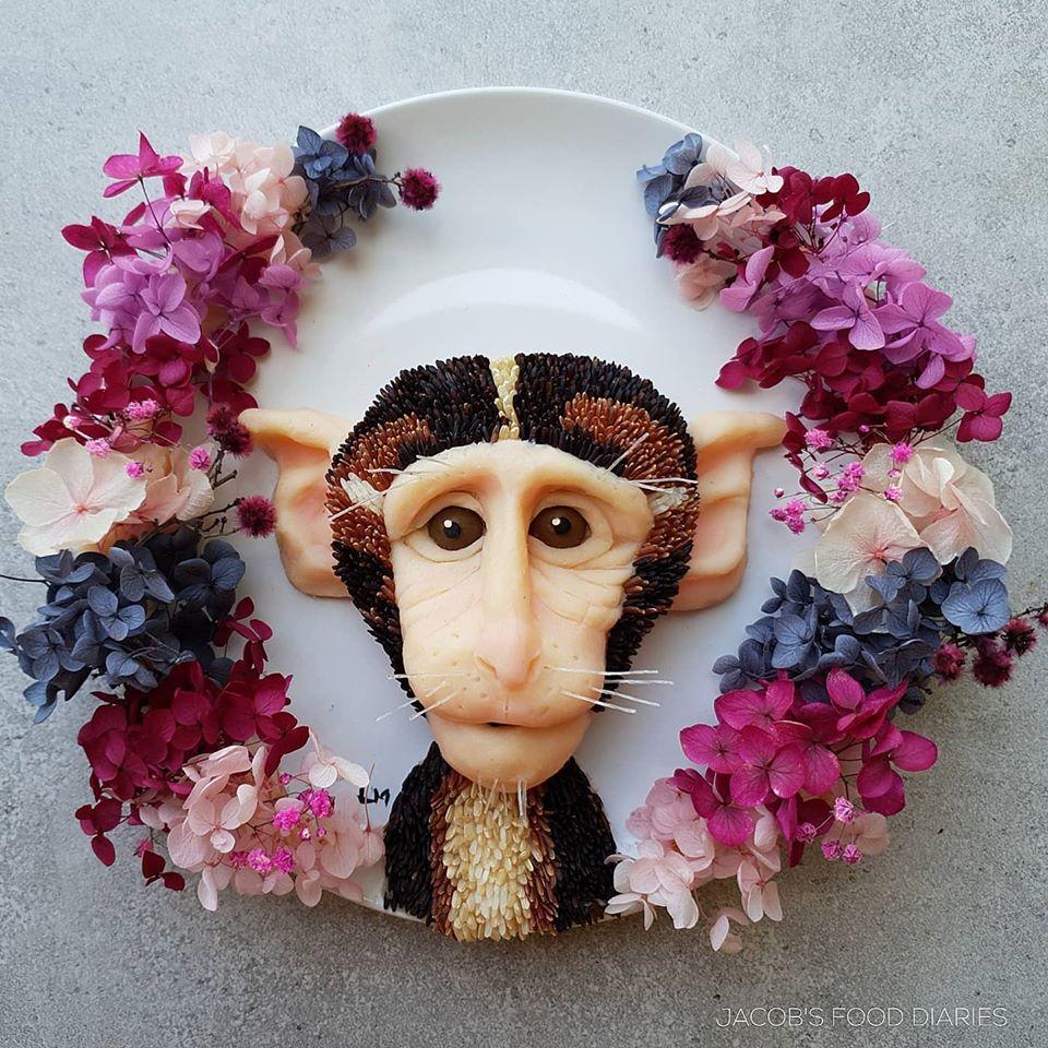 food art monkey by laleh mohmedi
