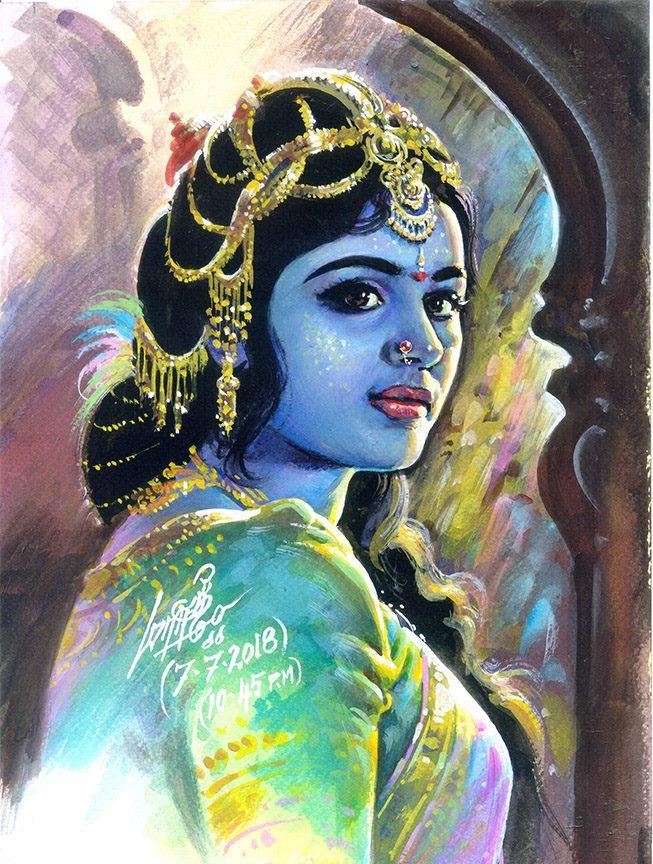 tamilnadu paintings goddess
