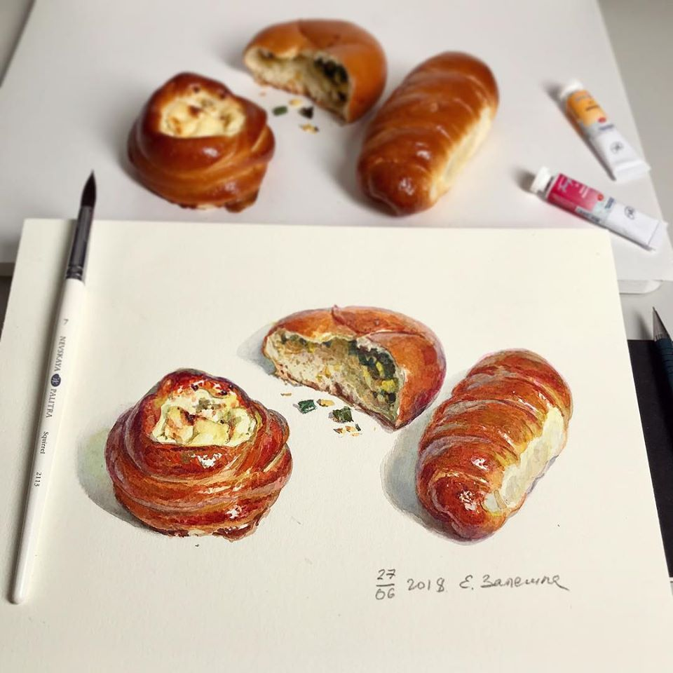 hyper realistic painting food