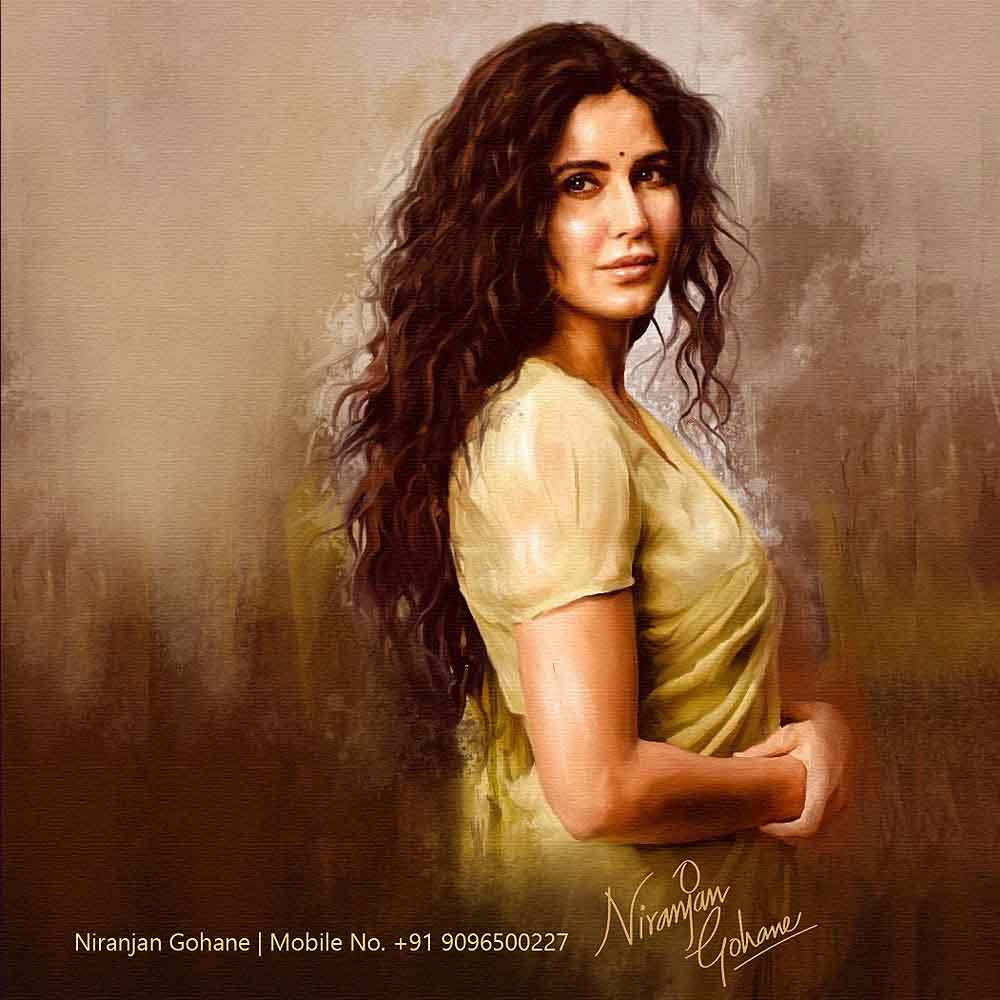 india art festival painting katrina kaif