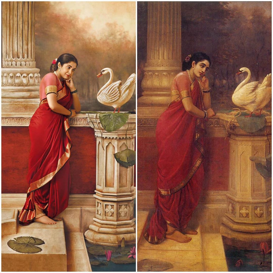 photography raja ravi varma paintings ramya venket ram