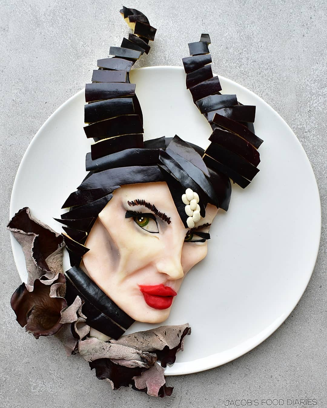 food art maleficient by laleh mohmedi