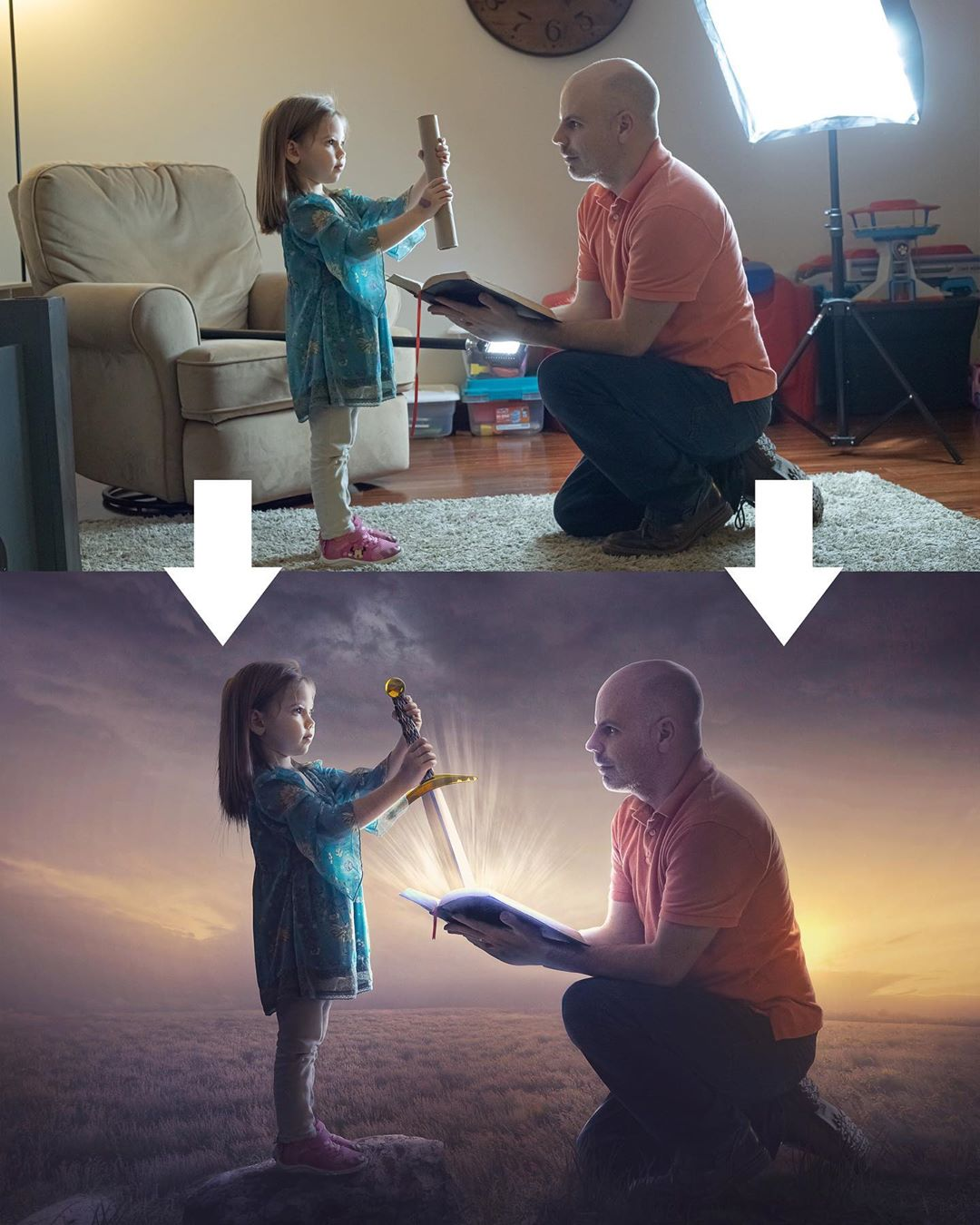 photo manipulation father daughter