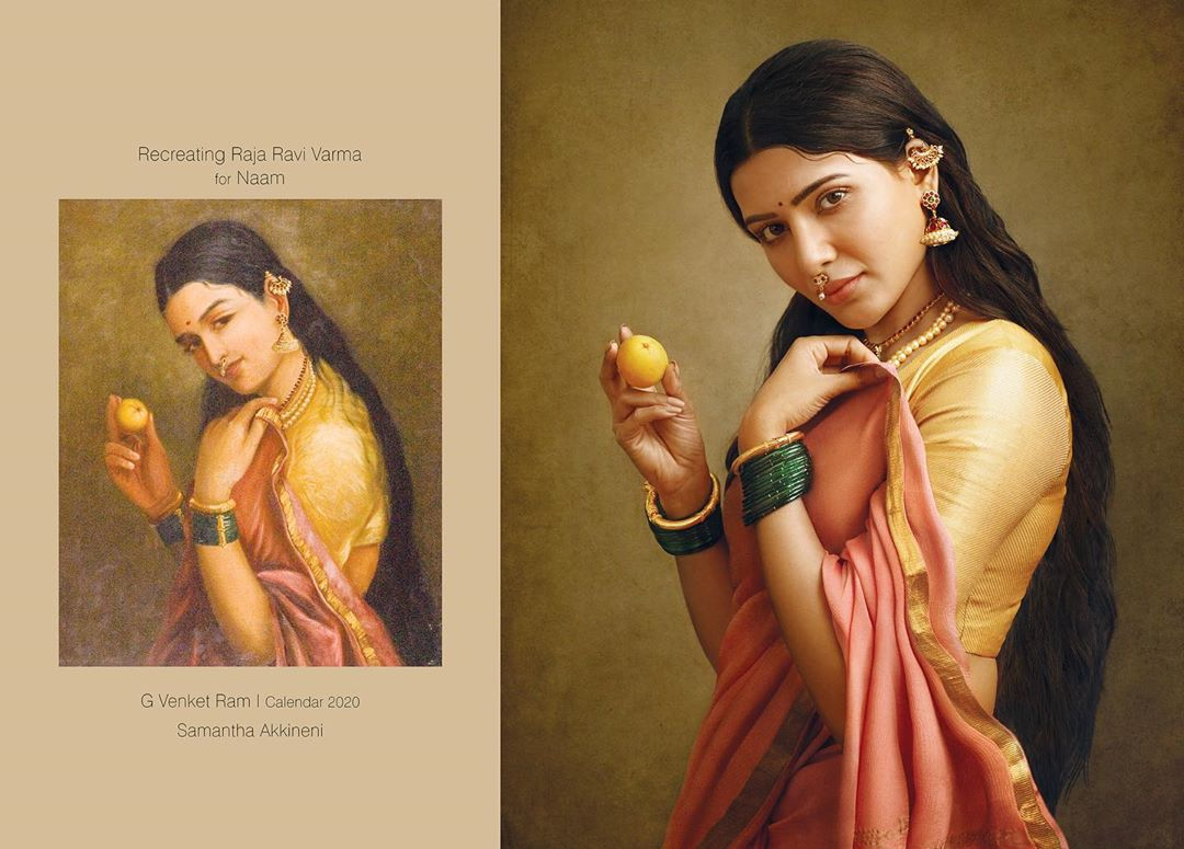 photography raja ravi varma paintings samantha akkineni