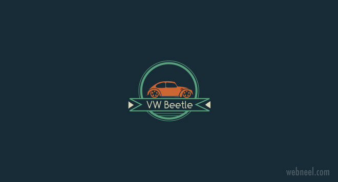 car logo design vw beetle