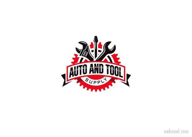 mechanic tools car logo design