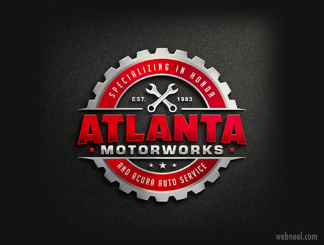 motor car mechanic logo design by zyra