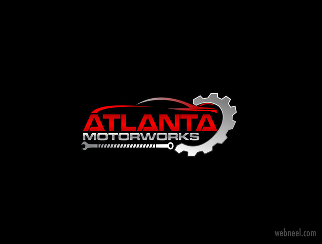car mechanic tools logo design mart999