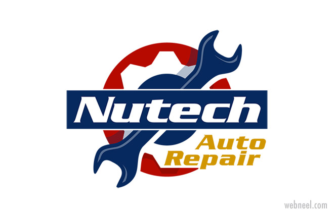 auto repair car logo design