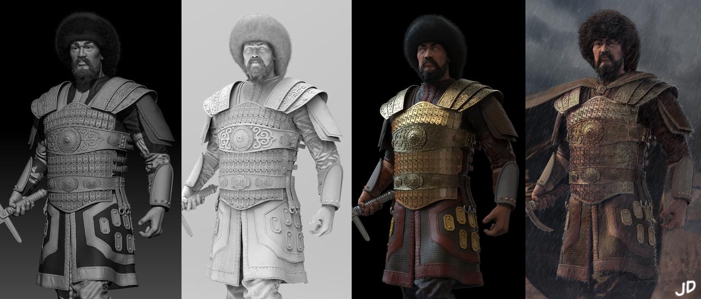 3d model design characters by daniar joldoshbekov