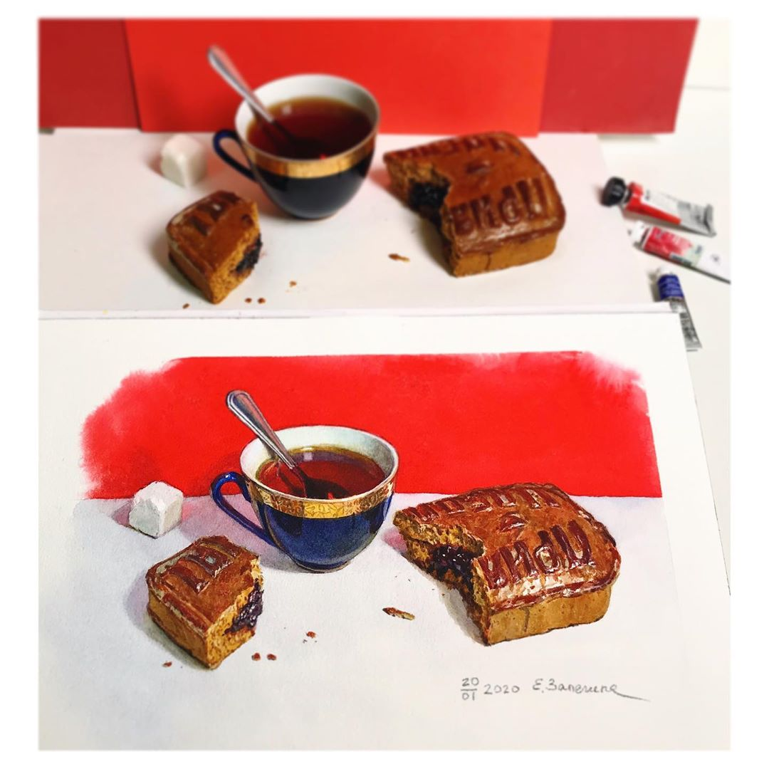 hyper realistic painting gingerbread