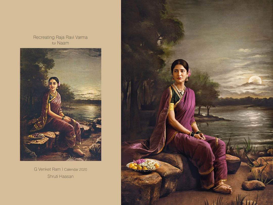photography raja ravi varma paintings shruti hassan